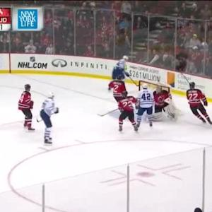 Cory Schneider Save on Morgan Rielly (02:03/OT)