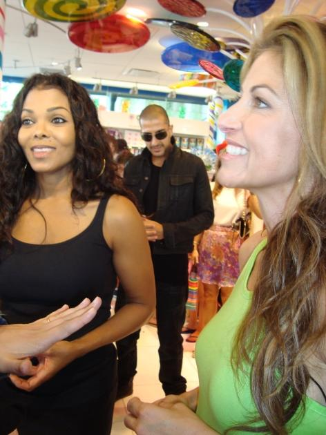 Janet Jackson at the opening of Dylan's Candy Bar in Los Angeles -- Access Hollywood