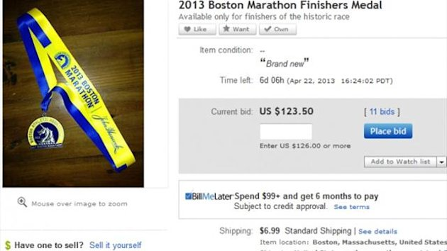 Boston Marathon medals eBay