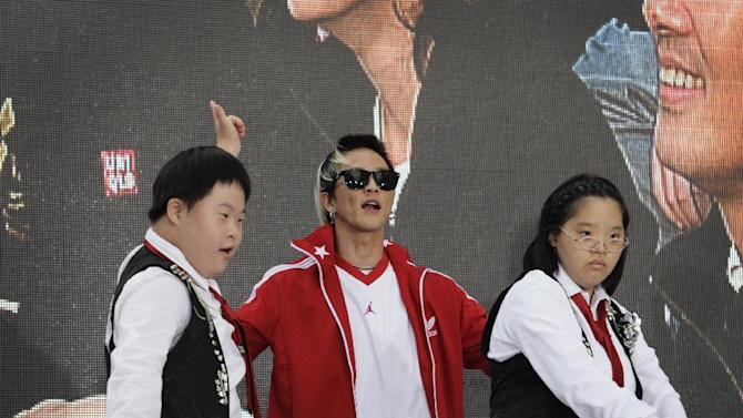 South Korean pop dancer Poppin Hyunjun performs at the 100-Day Countdown Celebration on Oct. 21, 2012 in Seoul, South Korea for Special Olympics World Winter Games PyeongChang 2013 which are being held in Pyeongchang from January 29-February 5, 2013. (Woohae Cho/AP Images for Special Olympics)