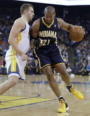 Pacers win 5th straight, hold off Warriors 102-94