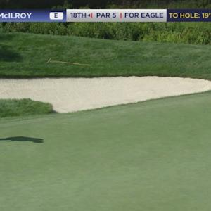 Rory Mcilroy's 21-foot eagle attempt leads to birdie at No. 18 at Deutsche Bank