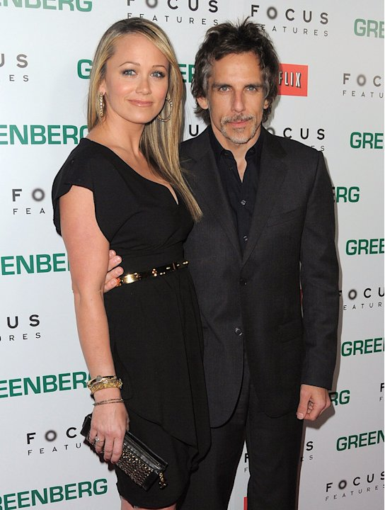 Greenberg LA Premiere 2010 Christine Taylor Ben Stiller