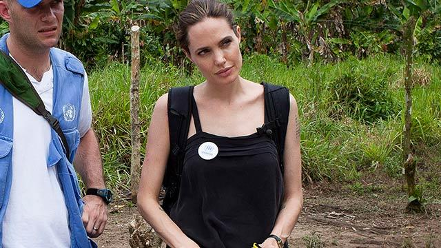 Angelina Jolie Meets Refugees in Ecuador