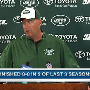 New York Jets head coach Rex Ryan on defensive end Jason Babin: 'We brought him in to play'