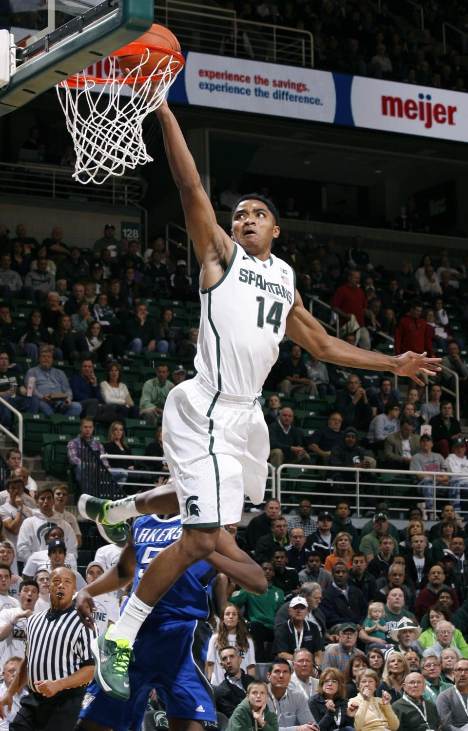 Michigan State beats Grand Valley in exhibition