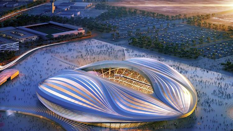 A computer generated image released by the Organising Committee of Qatar 2022 shows the stadium to be built in Al-Wakrah for the 2022 World Cup