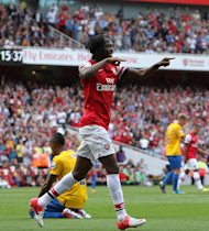 Gervinho scored a brace in Arsenal&#39;s triumph over Southampton