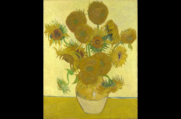 """Vase with Fifteen Sunflowers"" by Vincent van Gogh, sold for $39.7 million in 1987."