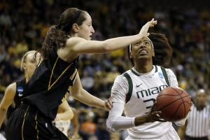 No. 9 seed Iowa beats Miami 69-53,