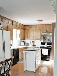 basic white and wood kitchen