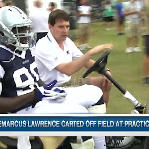 Dallas Cowboys rookie defensive end Demarcus Lawrence injured in training camp