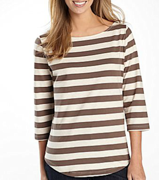 St. John's Bay Striped Boatneck Top