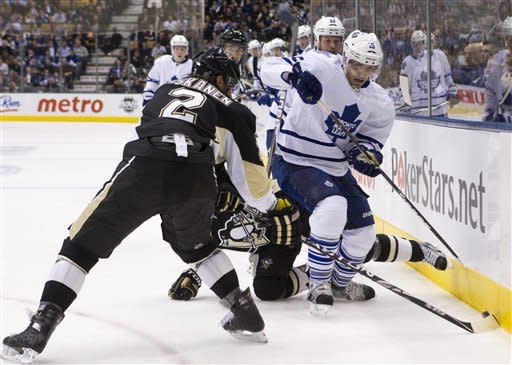 Reimer stops 25 shots as Leafs blank Penguins 1-0