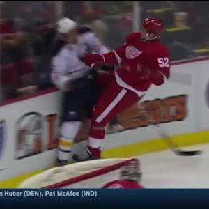 Josh Gorges Hit on Darren Helm (03:02/2nd)