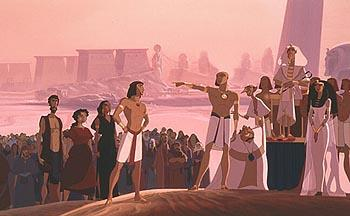 (Left to right) Aaron ( Jeff Goldblum ), Miriam ( Sandra Bullock ), Tzipporah, ( Michelle Pfeiffer ), Moses ( Val Kilmer ), Rameses ( Ralph Fiennes ), Hotep ( Steve Martin ), Huy ( Martin Short ), Pharoah Seti ( Patrick Stewart ) and The Queen ( Helen Mirren ) in The Prince Of Egypt