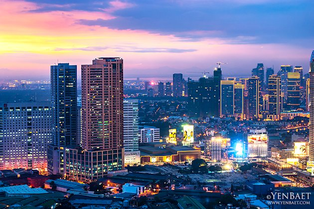 philippines-manila-skyscraper-8-jpg_064755 - Manila at twilight - Philippine Photo Gallery