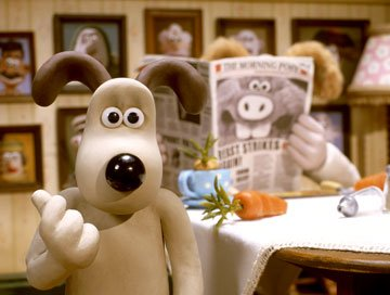 Gromit is the first to figure out the identity of the Were-Rabbit in DreamWorks Animation's Wallace & Gromit: The Curse of the Were-Rabbit