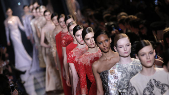 Valentino, Gaultier, Saab shimmer in couture
