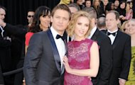 Jeremy Renner and Scarlett Johansson arrive at the 83rd Annual Academy Awards held at the Kodak Theatre in Hollywood on February 27, 2011 -- Getty Images
