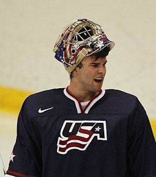 Team USA goalie Jack Campbell