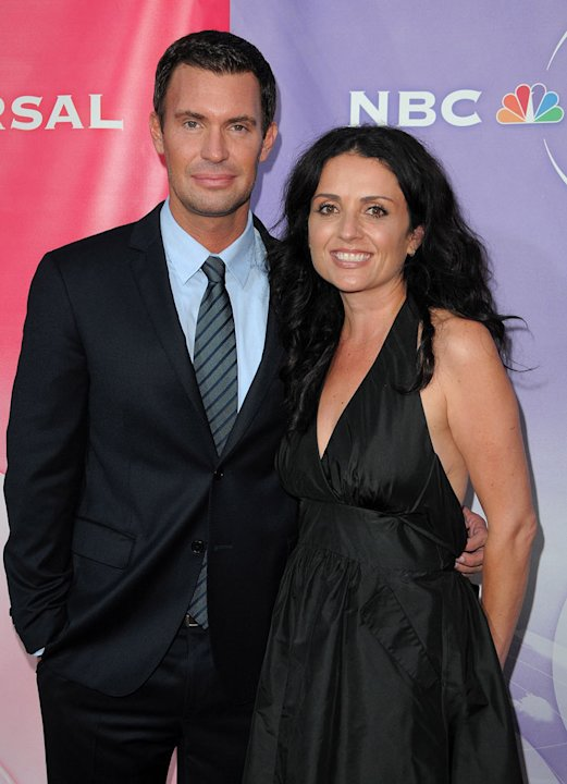 """Flipping Out's"" Jeff Lewis and Jenni Pulos arrive at NBC Universal's 2010 TCA Summer Party on July 30, 2010 in Beverly Hills, California."
