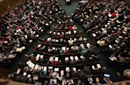 A general view of the Church of England General Synod meeting at Church House in central London. The Church of England was in turmoil Tuesday after narrowly voting against the ordination of women bishops in a major setback for efforts to modernise the mother church of millions of Anglicans worldwide