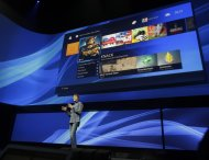 Mark Cerny, lead system architect for the Sony Playstation 4, speaks during a news conference to announce the new video game console, Wednesday, Feb. 20, 2013, in New York. (AP Photo/Frank Franklin II)