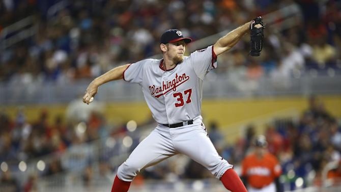 Strasburg leads Nats to 4-game sweep of Marlins