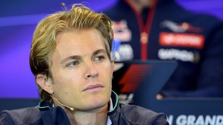 Mercedes's German driver Nico Rosberg holds a press conference at the Spa-Francorchamps circuit in Spa on August 21, 2014 ahead of the Belgium Formula One Grand Prix