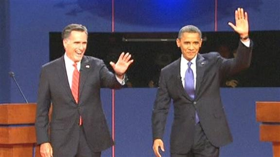 US President Barack Obama and Republican challenger Mitt Romney clashed over plans for taxes and creating jobs as they shared the stage for the first time Wednesday in a high-stakes TV debate.