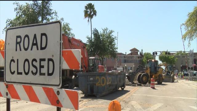 Month-long closure of Florida Avenue in Lakeland begins, causing extra congestion downtown