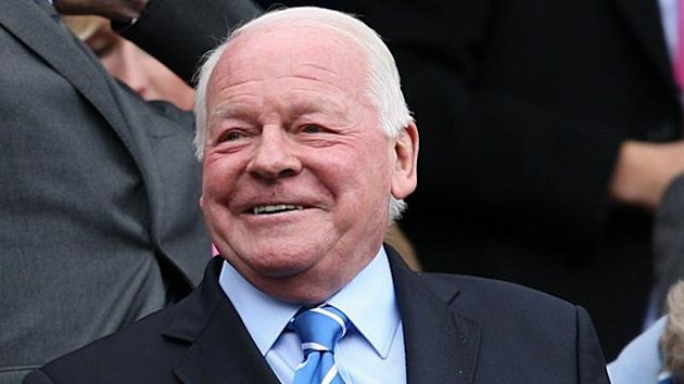 Wigan Athletic chairman Dave Whelan in the stands