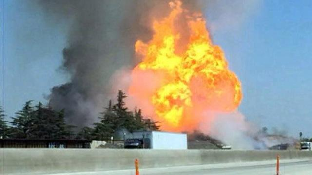 Gas-line blast closes major highway, injures at least 11