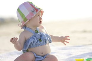 baby on beach