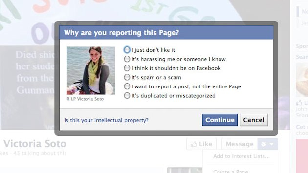 Sandy Hook Shooting: Facebook Responds to Lawmakers' Complaints of Bogus Memorials (ABC News)
