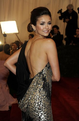 Post-Met Ball 2012, Carey Mulligan puts her Prada dress on eBay and Nina Dobrev had to be cut out of her Donna Karan dress!