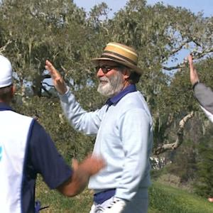 Andy Garcia's smooth birdie chip in at AT&T Pebble Beach