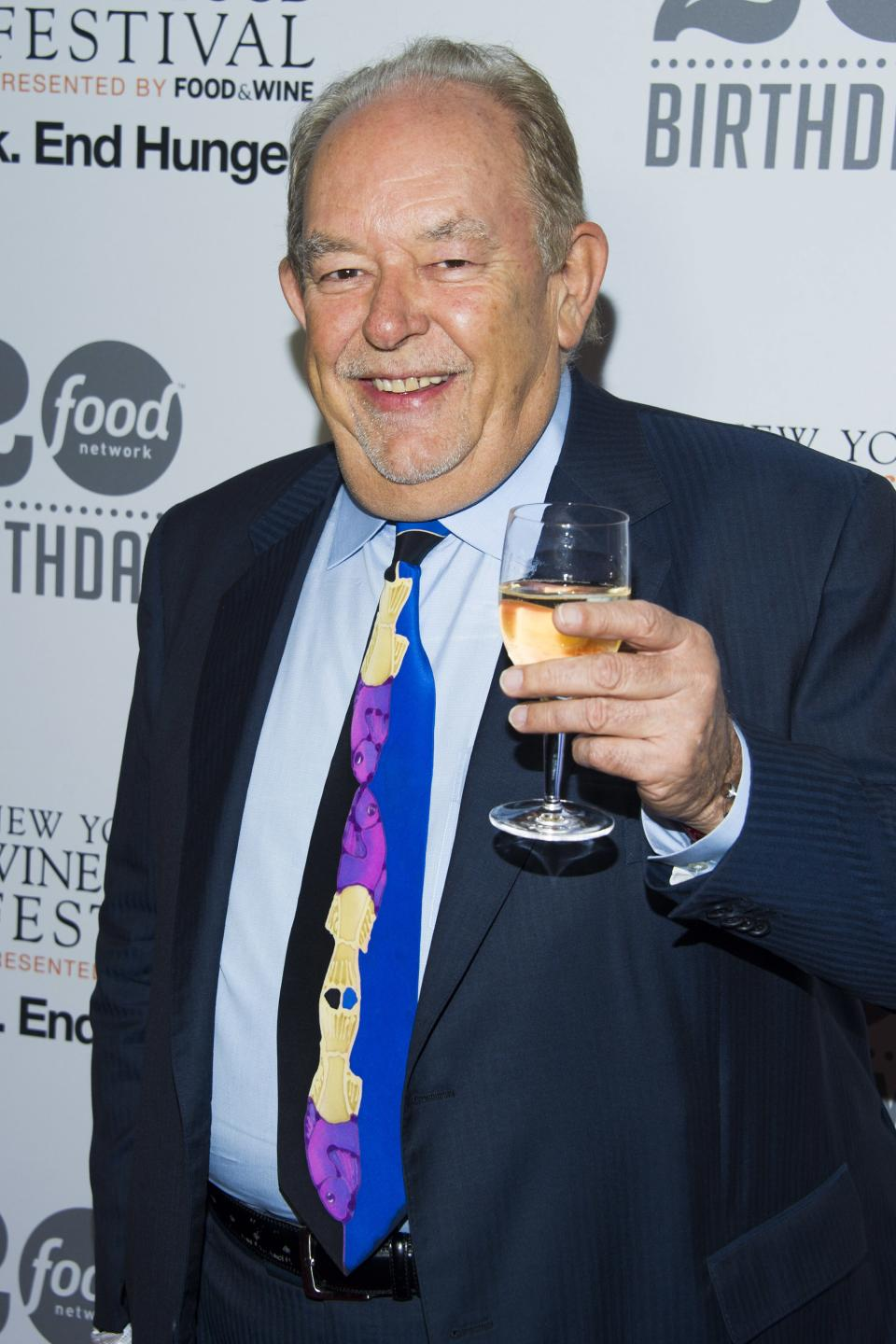 Robin Leach attends the Food Network's 20th birthday party on Thursday, Oct. 17, 2013, in New York. (Photo by Charles Sykes/Invision/AP)