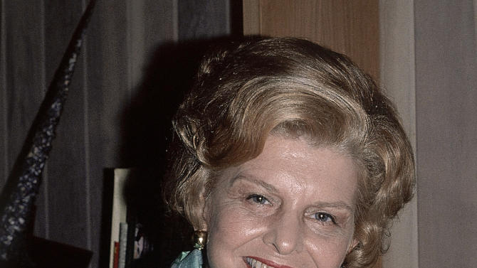 FILE - In an October 1978 file photo Betty Ford poses  at home in Palm Springs, Calif.  Ford will be one the the inductess this year to the National Women's Hall of Fame. (AP Photo/Chuck Scardina. file)