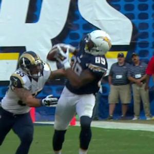 San Diego Chargers tight end Ladarius Green 27-yard catch