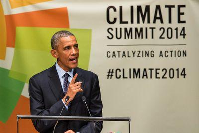 Obama has vowed to cut US emissions 17% by 2020. He's not on track yet.