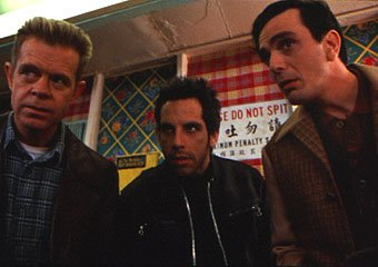 William H. Macy , Ben Stiller and Hank Azaria in Universal's Mystery Men