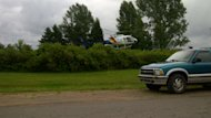 A chopper arrived Tuesday afternoon to assist searchers in St. Teresa.