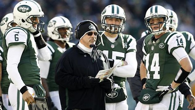 New York Jets offensive coordinator Tony Sparano