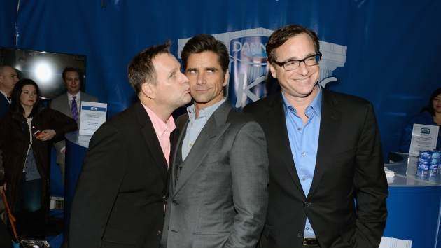Dave Coulier, John Stamos and Bob Saget show the lighter side of the game with Dannon Oikos on January 29, 2014 in New York City -- Getty Images