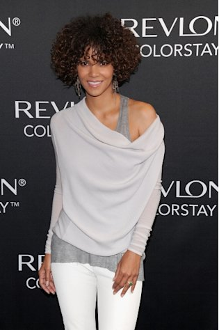 Halle Berry seen looking lovely at the Revlon ColorStay Whipped Creme Makeup launch at the Gramercy Park Hotel in New York City on May 22, 2012  -- Getty Images