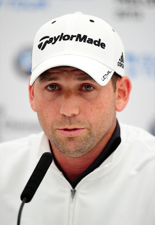 "Spain's Sergio Garcia during the PRO/AM tournament at the Wentworth Club, Surrey, England,   Wednesday May 22, 2013. Tiger Woods says the ""fried chicken"" comment from Sergio Garcia was hurtful and ina"