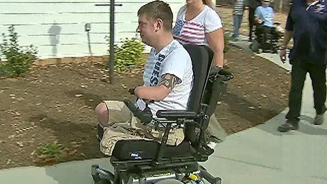 Special homecoming for wounded warrior