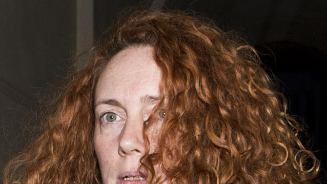 FILE - In this Sunday, July 10, 2011 file photo, former Chief executive of News International, Rebekah Brooks leaves a hotel in central London.   British police gave former News of the World editor Rebekah Brooks a retired police steed to look after, the force confirmed Tuesday Feb. 28, 2012  but they insisted it was not a gift horse.  The Metropolitan Police said the horse was loaned to Brooks _ former chief executive of Rupert Murdoch's British newspapers _ in 2008 under a program that allows people to care for retired service animals. (AP Photo/Sang Tan, File)